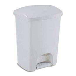 Poubelle à pédale Luna de Rubbermaid - en plastique gris - 40 litres - 41 x 57,5 x 33,8 cm (photo)