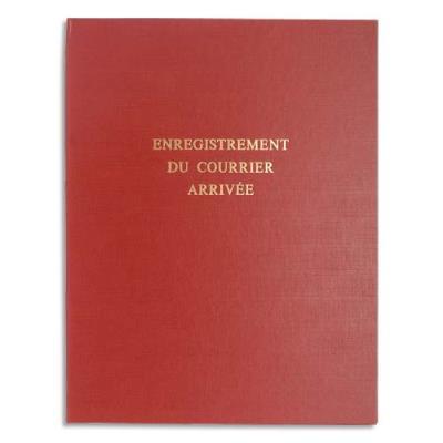 Piqure pour enregistrement du courrier arrivée LE DAUPHIN - 80 pages couverture rouge - 24x32cm (photo)