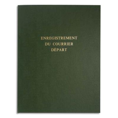 Piqure pour enregistrement du courrier départ - 80 pages - 24 x 32 cm - couverture verte (photo)