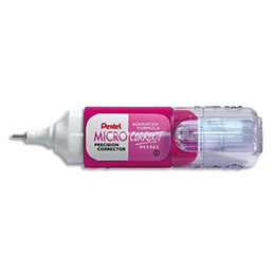 Mini correcteur liquide Pentel  - coloris rose - contenance 4,2 ml (photo)