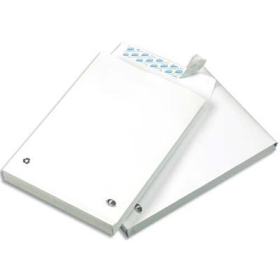 Pochettes à soufflet 30 mm en kraft blanc - 120 g - fermeture auto-adhésive - format 24 260 x 330 mm  - paquet de 50 (photo)