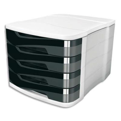 bloc de classement 4 tiroirs cep isis coloris noir achat pas cher. Black Bedroom Furniture Sets. Home Design Ideas