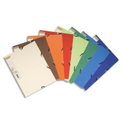 Chemise 3 rabats élastique Exacompta Forever - carte recyclée bicolore - 380g - coloris assortis (photo)
