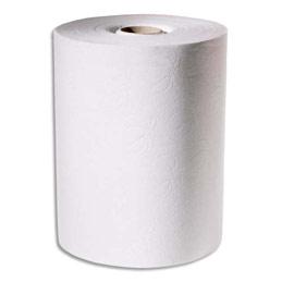 Essuie-mains Tork enMotion blanc - 2 plis - Longueur 143 métres - largeur 24,7 cm - lot de 6 rouleaux (photo)