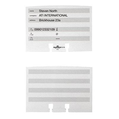 Fiches répertoires supplémentaires pour fichiers - paquet 100 unités (photo)