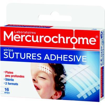 Pansements suture adhésif Mercurochrome - boîte de 16 (photo)