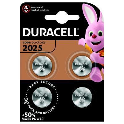 Pile bouton Lithium CR 2025 - Lot de 4 (blister 4unités)