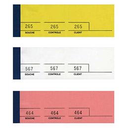 Bloc de tickets passe-partout Elve - jaune - 100 feuillets - 5 x 15 cm (photo)
