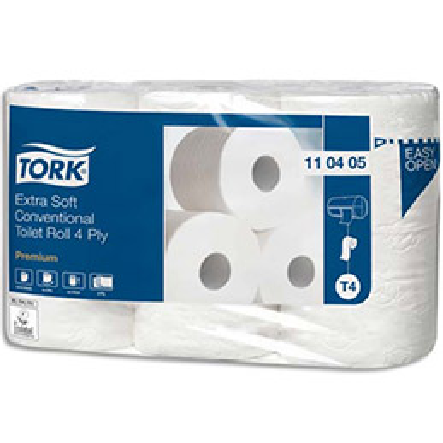 Papier toilette Tork Premium extra doux - 4 plis - lot de 6 rouleaux de 153 feuilles