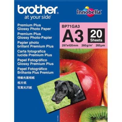 Papier photo Brother BP71GA3 - A3 - 260g - paquet de 20 feuilles (photo)
