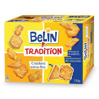 biscuits salés Tradition, 4 variétés - Boîte de 720 g (paquet 720 kilogrammes)