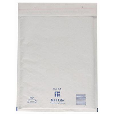 Enveloppe matelassée - AirCap - kraft - 300 mm x 440 mm - 80 g/m² fermeture autocollante - blanc - boîte 50 unités (photo)