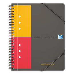 Cahier chemise oxford meetingbook reliure spirales a5 160 pages petits carreaux - Cahier oxford office book ...