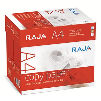 Papier blanc Raja paper - A4 - 80g - CIE 146 - Copy Paper - boîte de 2500 feuilles (photo)