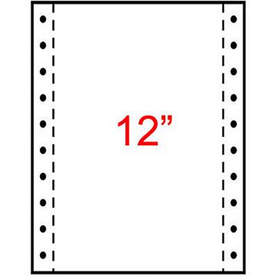 Papier listing Exacompta 240 x 305 mm - 1 pli blanc 60g/m² - carton de 2000 feuilles (photo)