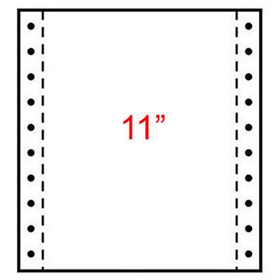 Papier listing Exacompta 240 x 280 mm  blanc - 1 pli 70g/m² - carton de 2000 feuilles (photo)