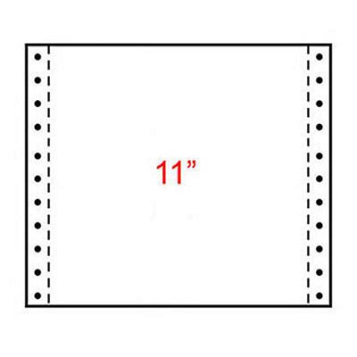 Papier listing Exacompta 240 x 280 mm  blanc 60g/m² - carton de 2000 feuilles (photo)