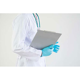 Plaque porte-bloc Pergamy - aluminium - 23 x 35 cm - pour documents A4+