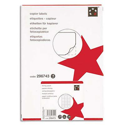 Boîte de 1600 étiquettes adhésives impression jet dencre 105 x 35 mm blanches