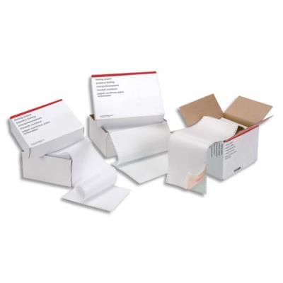 Boîte de 2500 listing 5 Etoiles - format 380 mm x 11'' - simple - blanc - 70 g - bandes caroll fixes (photo)
