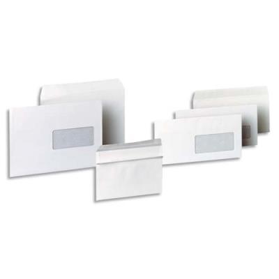 Enveloppes 162x229 1er prix - fenêtre 45x100 - blanches - autocollantes - 80g - boîte de 500