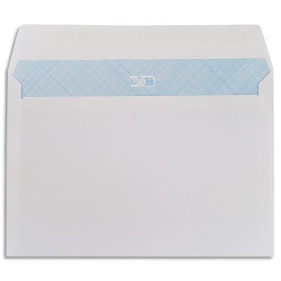 Enveloppes 162x229 1er prix - blanches - auto-adhésives - 80g - boîte de 500