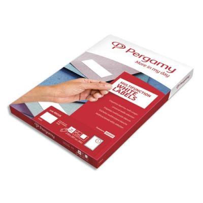 Etiquettes Pergamy multi-usage - 105 x 48mm - en planche A4 - coins carrés - boîte de 1200