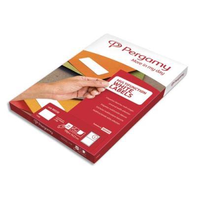 Etiquettes Pergamy multi-usage - 99,1 x 39,9mm - en planche A4 - coins arrondis - boîte de 1600