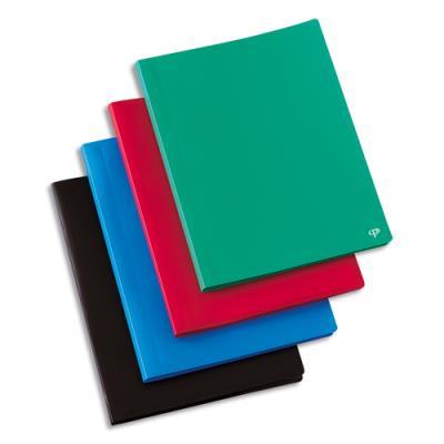 Protège-documents en polypropylène 1er prix - 80 pochettes/160 vues - coloris assortis - couverture 3/10e pochettes 6/100e