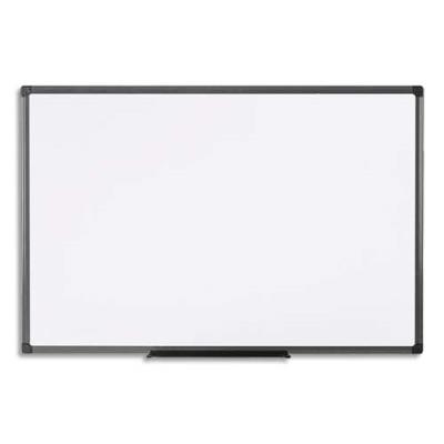 Tableau blanc mélaminé Pergamy Essential - cadre en PVC - 180 x 120 cm