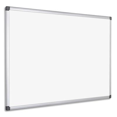Tableau blanc laqué magnétique Pergamy - cadre aluminium - 150 x 100 cm