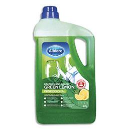 Liquide vaisselle main concentré Albiore - bidon 5 kg - parfum citron (photo)
