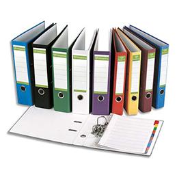 Classeur à levier Pergamy - en papier recyclé intérieur/extérieur - dos 5 cm - A4 - coloris assortis std