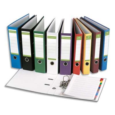 Classeur à levier Pergamy - en papier recyclé intérieur/extérieur - dos 8 cm - A4 - coloris assortis std