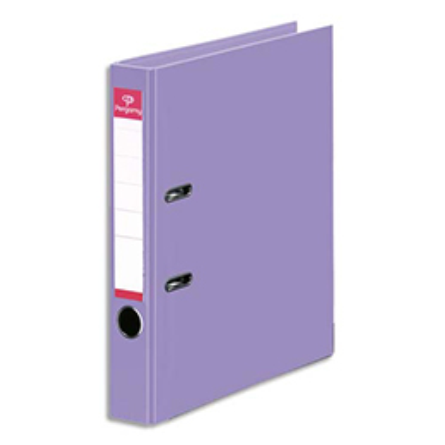 Classeur à levier Pergamy - polypropylène intérieur/extérieur - dos 5 cm - A4 - violet
