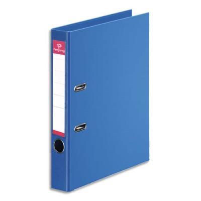 Classeur à levier Pergamy - polypropylène intérieur/extérieur - dos 5 cm - A4 - bleu roi