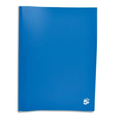 Protège-documents en polypropylène 1er prix - 20 pochettes/40 vues - bleu - couverture 3/10e pochettes 6/100e