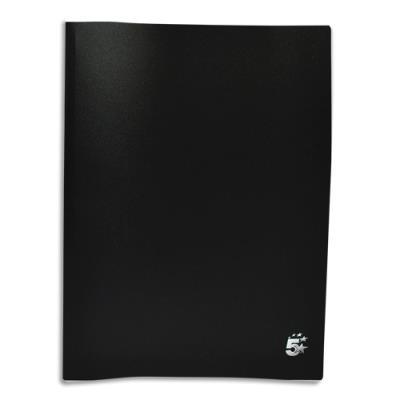 Protège-documents en polypropylène 1er prix - 20 pochettes/40 vues - noir - couverture 3/10e pochettes 6/100e