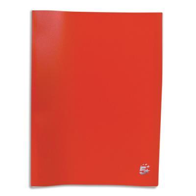 Protège-documents en polypropylène 1er prix - 20 pochettes/40 vues - rouge - couverture 3/10e pochettes 6/100e