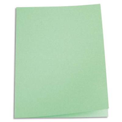 Paquet de 100 chemises 1er prix - carte recyclée 180 grammes - coloris vert