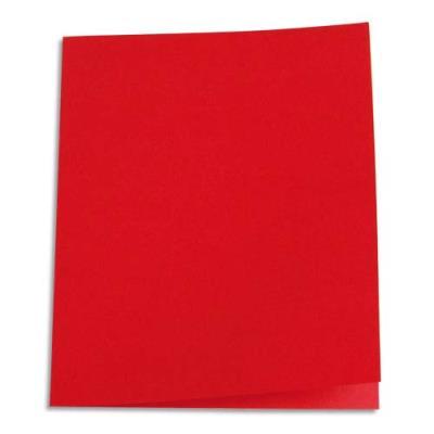 Paquet de 100 chemises 1er prix - carte recyclée 180 grammes - coloris rouge