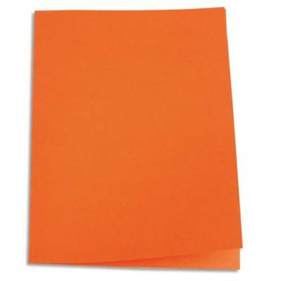 Paquet de 100 chemises 1er prix - carte recyclée 180 grammes - coloris orange