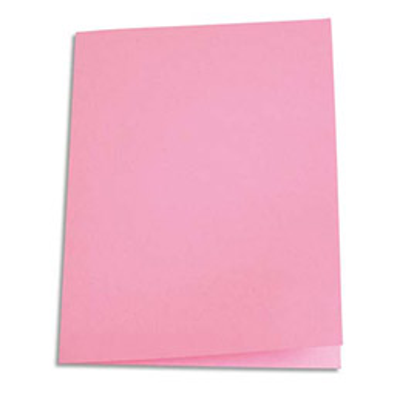 Paquet de 100 chemises 1er prix - carte recyclée 180 grammes - coloris rose