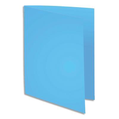 Paquet de 100 chemises 1er prix- carte recyclée 180 grammes - coloris bleu foncé