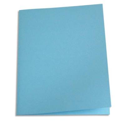 Paquet de 250 sous-chemises en papier recyclé 60 grammes - coloris bleu