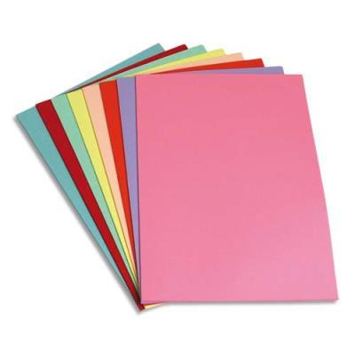 Paquet de 250 sous-chemises en papier recyclé 60 grammes - coloris assortis