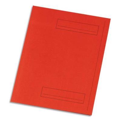Chemise 2 rabats avec cadre d'indexage 5 Etoiles - Kraft 160 g - rouge - paquet de 50 (photo)