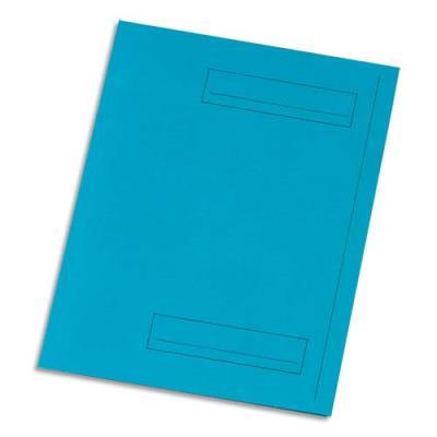 Chemise 2 rabats avec cadre d'indexage 5 Etoiles - Kraft 160 g - bleu - paquet de 50 (photo)