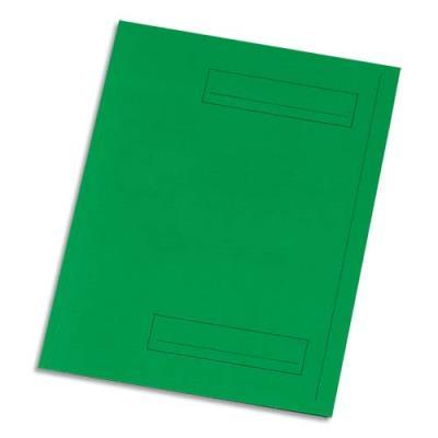 Chemise 2 rabats avec cadre d'indexage 5 Etoiles - Kraft 160 g - vert - paquet de 50 (photo)