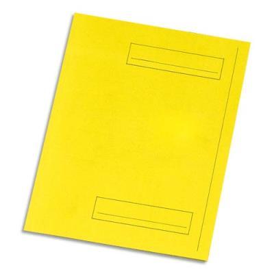 Chemise 2 rabats avec cadre d'indexage 5 Etoiles - Kraft 160 g - jaune - paquet de 50 (photo)